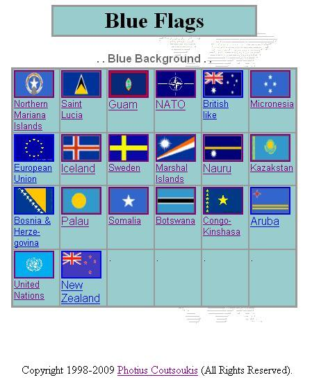 blue flag identifier printable page