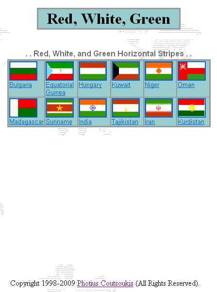 Green White Black Horizontal Red Vertical Flag About Flag
