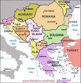 Southeastern Europe Map SECI   Southeast European Cooperative Initiative